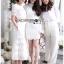 Meryl Basic Laser-Cut White Cotton Dress thumbnail 6