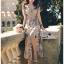 Miranda Country Chic Blossom Ruffle Wrap Dress thumbnail 6