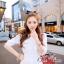 ( พร้อมส่งเสื้อผ้าเกาหลี) เดรสสีขาวเนื้อผ้าลินินทอปักลวดลายลูกไม้ ผ้าสวยมากค่ะมีtextureในตัว สม็อกรอบเอวค่ะ ปลายแขนจั๊มสามส่วน ชายกระโปรงระบาย มีซับในในตัวนะคะ thumbnail 9