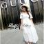Emilia Bohemian Off-Shoulder Embroidered Cotton Lace Maxi Dress thumbnail 4