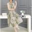 Miranda Natural Beauty Roses Printed Satin Midi Dress thumbnail 1