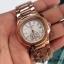 Patek Philippe หน้าปัดขนาด 35 mm. แสดงวันที่ตำแหน่ง 3 นาฬิกา เข็มล่างใช้งานได้จริง เป็นเข็มวินาที สายสแตนเลสสีทอง สายกลิ๊บล็อค งานสวยมากๆ ราคา 1090 thumbnail 5