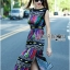 Alice Vivid Colorful Graphic Printed Maxi Dress thumbnail 3