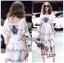 Amelia Colourful Printed White Crepe Dress thumbnail 2