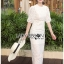 Sofie Modern Vintage Embroidered and Laser-Cut White Cotton Long Dress thumbnail 4