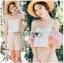 Leslie Color-Blended Pink Off-Shoulder Top and Shorts Set thumbnail 5
