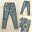 เสื้อผ้าเกาหลีพร้อมส่ง กางเกงยีนส์ ขายาว ทรงบอย งาน Zara ผ้าด้าน thumbnail 6
