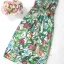 เสื้อผ้าเกาหลี พร้อมส่ง เดรสเกาะอก เนื้อผ้าcottonนุ่มนิ่มพิมพ์ลายดอกไม้ใบไม้คมชัด thumbnail 16