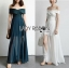 Lizzy Twist Off-Shoulder Chiffon Maxi Dress thumbnail 1