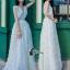 ชุดเดรสเกาหลี พร้อมส่งPearl White 3D Floral Back Show Off Luxury Dress thumbnail 3