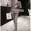 Valentina Sophisticated Chic Black and White Checked Suit Set thumbnail 4