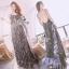LBT Classy Feather V-Back Maxi Dress thumbnail 2