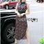 Taylor Red-Green Graphic Printed Sleeveless Maxi Dress thumbnail 3