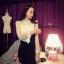 เสื้อผ้าเกาหลี พร้อมส่ง มินิเดรสลุคสาวเปรี้ยว ช่วงกระโปรงเป็นผ้า Cotton spenet thumbnail 3