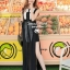 Elegant Stitch Black&White Long Dress thumbnail 3