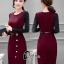 เสื้อผ้าเกาหลี พร้อมส่งElegant 2 Tones Dress -mini dress thumbnail 2