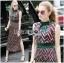 Taylor Red-Green Graphic Printed Sleeveless Maxi Dress thumbnail 2