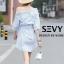 Mini dress รายริ้วฟ้าสลับขาว ทรงเก๋ thumbnail 4