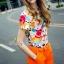 เสื้อผ้าเกาหลี พร้อมส่งน่ารักฝุดๆ กับชุดเข้าเซต เสื้อพิมลายตัวการ์ตูน thumbnail 9