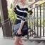 Sexy Show Back Stripy Knit Blouse by Seoul Secret thumbnail 4