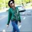 เสื้อผ้าเกาหลี พร้อมส่ง เสื้อแจ๊ตเก็ตลายเอกลักษณ์แบรนด์ Gucci thumbnail 3