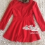 เสื้อผ้าเกาหลี พร้อมส่งเสื้อโค้ทสีแดงแต่งขนเฟอ thumbnail 8