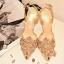 งานนำเข้า Style Rene Caovilla Metallic Leather Lace Jewel Pumps แบบขายดี @ รองเท้า Style Rene Caovilla thumbnail 5