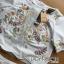 เสื้อผ้าเกาหลี พร้อมส่งเซ็ตเสื้อและกางเกงผ้าคอตตอนปักลายดอกไม้ธรรมชาติ thumbnail 10