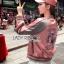 เสื้อผ้าเกาหลี พร้อมส่งบอมเบอร์แจ๊กเก็ตปักลายนกสีชมพูสไตล์สปอร์ต thumbnail 4
