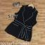 Sleeveless Cover Rope Waist Wide Collar Jacket Shirt thumbnail 7