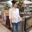 เสื้อผ้าแฟชั่นพร้อมส่ง เสื้อสไตส์เกาหลี งานปักแน่นมาก thumbnail 5