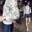 เสื้อผ้าเกาหลี พร้อมส่งPrinted Sweater Jacket thumbnail 5
