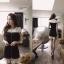 ( พร้อมส่งเสื้อผ้าเกาหลี) เดรสงานเกาหลีสไตล์เรียบหรูดูดี ประดับมุก แต่งเพชรตรงช่วงคอ ดีเทลต่อผ้าอัดพลีทช่วงชายกระโปรง งานสวยปราณีต เข้ากันอย่างลงตัว ดูลุ๊คคุณหนู celeb เนื้อผ้าเนื้องาน pattern/cutting สวยสมราคา thumbnail 8