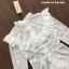เสื้อผ้าแฟชั่นพร้อมส่ง เซ็ตเสื้อแขนยาวผ้าลูกไม้สีขาวช่วงอกแต่งระบาย thumbnail 5
