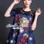 เสื้อผ้าเกาหลี พร้อมส่งD&G Style Embroider Denim Dress thumbnail 1