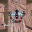 เสื้อผ้าเกาหลีพร้อมส่ง Oranginaa Latte Leaf Lace Chic Set thumbnail 4