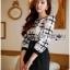 เสื้อผ้าเกาหลี พร้อมส่งเพลย์สูทขาสั้นผ้าคอตตอนปักลายตาราง thumbnail 2