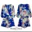 เสื้อผ้าแฟชั่น พร้อมส่ง จั๊มสูทลายดอกไม้งาน ZARA thumbnail 2