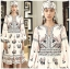 Deana Bohemian Printed & Embroidered White Dress thumbnail 1
