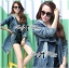 Kate Double-Breast Denim Dress with Hood thumbnail 1