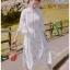 Blooming Flower Printed Chiffon Ruffle Maxi Dress thumbnail 4