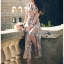 Miranda Country Chic Blossom Ruffle Wrap Dress thumbnail 4