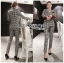 Valentina Sophisticated Chic Black and White Checked Suit Set thumbnail 7