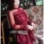 Eva Ruffle Crimson Red Lace Mini Dress thumbnail 3