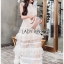 Jaimie Sweet Feminine Layered Tulle and Lace Dress thumbnail 6