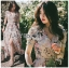 Miranda Country Chic Blossom Ruffle Wrap Dress thumbnail 1