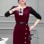 เสื้อผ้าเกาหลี พร้อมส่งElegant 2 Tones Dress -mini dress thumbnail 8