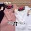 เสื้อผ้าเกาหลี พร้อมส่ง สเวตเตอร์แขนยาวผ้าขนสัตว์สังเคราะห์ตัดแต่งผ้าถักโครเชต์ปักลายดอกกุหลาบ thumbnail 7