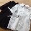 เสื้อผ้าเกาหลี พร้อมส่งเชิ้ตเดรสผ้าลูกไม้สีขาวประดับโบที่แขนเสื้อสไตล์มินิมัลสุดหวาน thumbnail 11