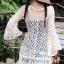 เสื้อผ้าเกาหลี พร้อมส่ง เสื้อคลุมเดรสตาข่ายลูกไม้See-Through ทอลายดอก thumbnail 5